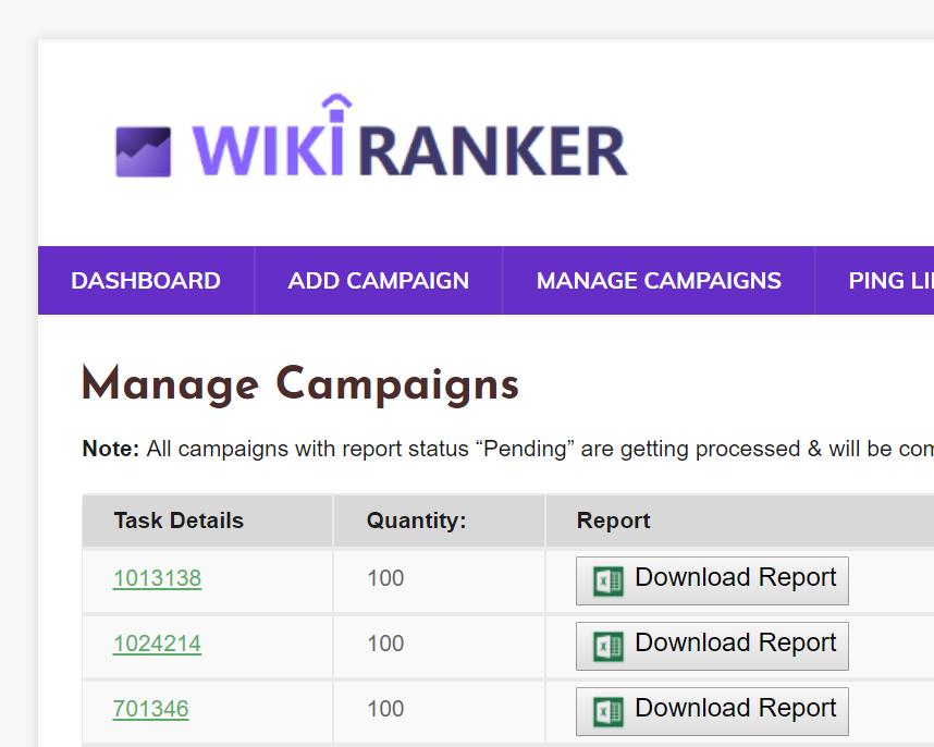 wiki ranker - web based backlink builder